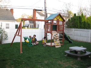 Our new play gym in all it's glory!